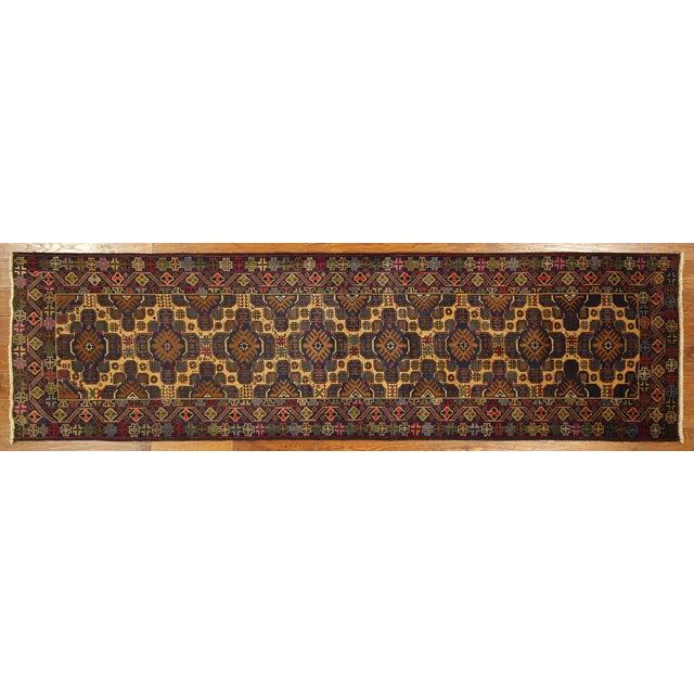 """Tribal Baluch Wool Runner Rug - 2'9"""" x 10' - Image 2 of 9"""