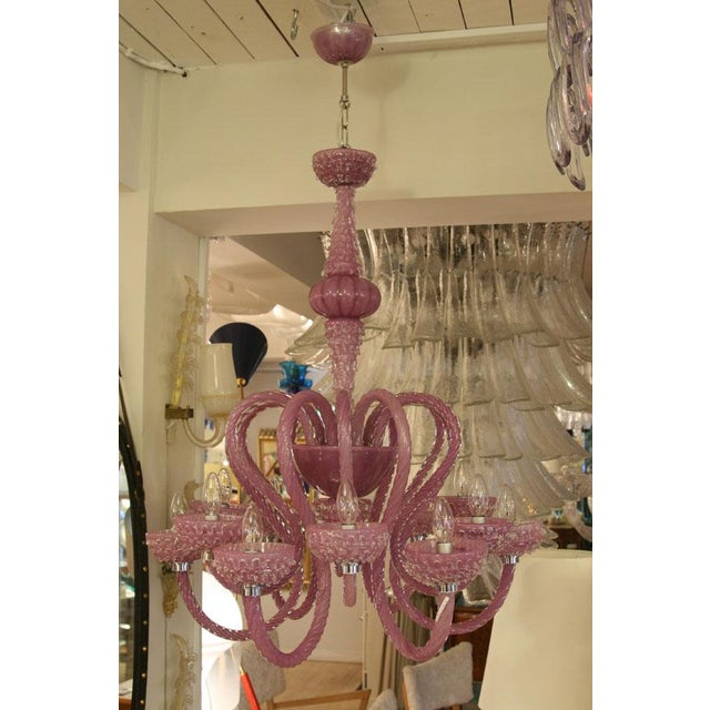 Early 21st Century Murano Glass Purple Murano Chandelier For Sale - Image 5 of 7