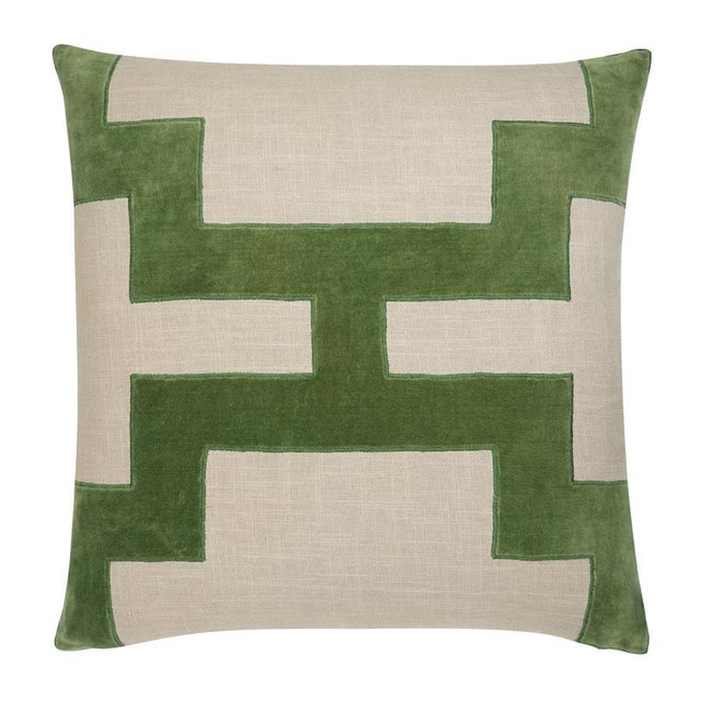 "Piper Collection Green Velvet ""Catie"" Pillows - a Pair - Image 2 of 2"