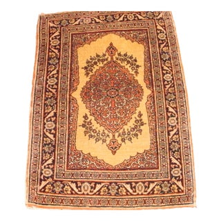 "Pasargad N Y Persian Tabriz Hand-Knotted Area Rug - 1'10"" X 2' 8"" For Sale"
