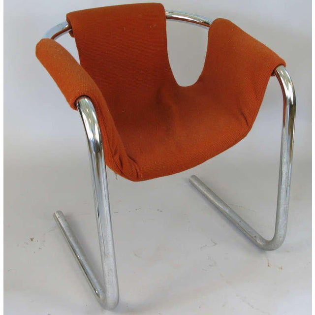 Italian 1950s Chrome Base Zermatt Chairs - a Pair For Sale - Image 3 of 6