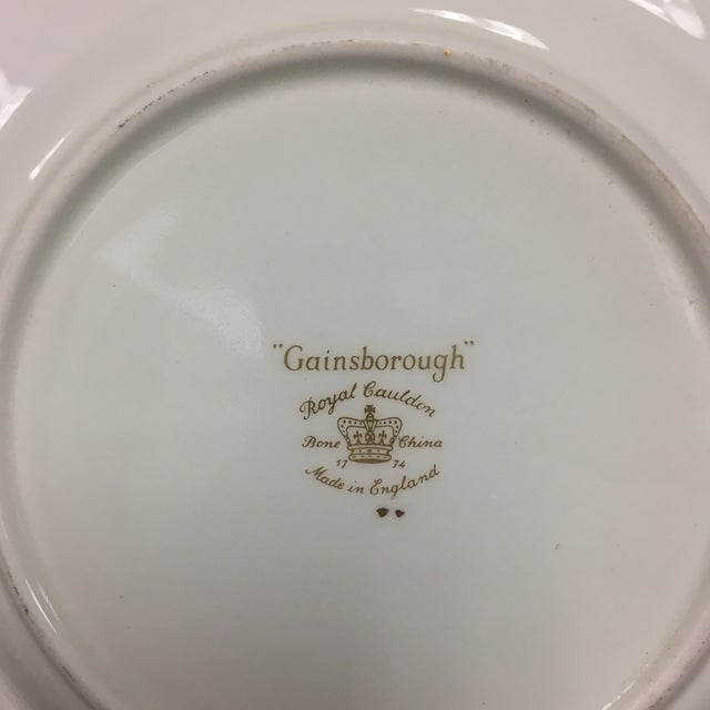 Royal Cauldon Gainsborough Teal Green Salad Dessert Plates Set 10 For Sale - Image 4 of 5