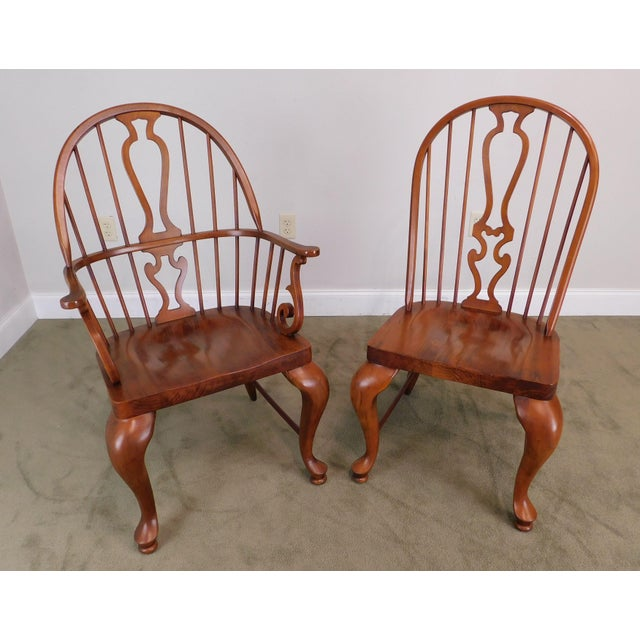Lexington Furniture Bob Timberlake Lexington Furniture Set 4 Cherry Windsor Dining Chairs For Sale - Image 4 of 13