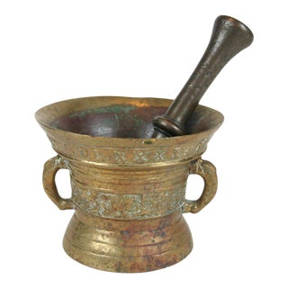 19th Century Bronze Mortar and Pestle For Sale