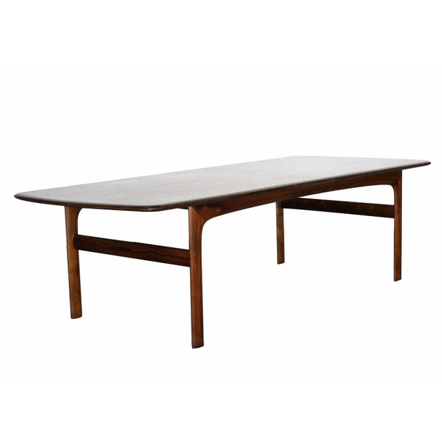 Dark Teak Coffee Table: Large Danish Modern Teak Coffee Table