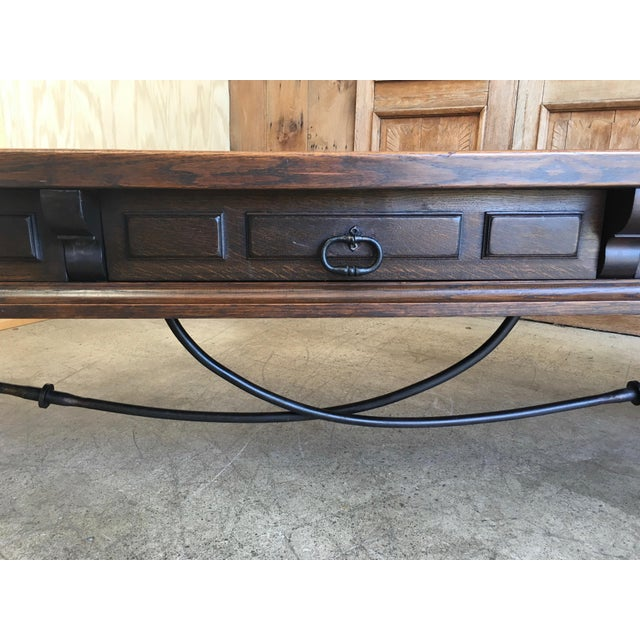 20th Century Spanish Style Console Table Buffet For Sale - Image 11 of 13
