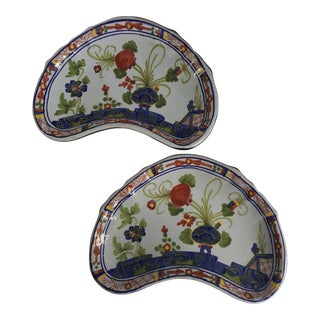 CACF Faenza Italian Pottery Bone Plates - a Pair For Sale