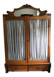 Image of Glass Armoires Wardrobes and Linen Presses