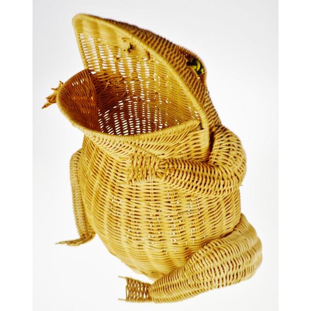Vintage Natural Wicker Frog Planter Basket For Sale - Image 13 of 13