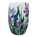 Image of Chinese Porcelain Floral Painted Garden Stool For Sale