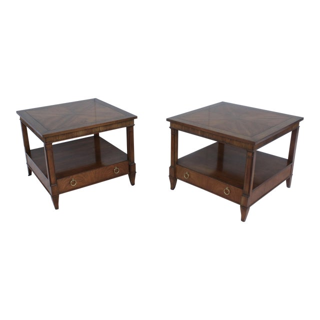 1960s Baker Tiered Nightstands - A Pair - Image 1 of 9