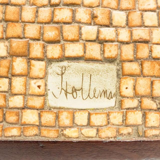 David Holleman Ceramic Mosaic Table - Image 10 of 10
