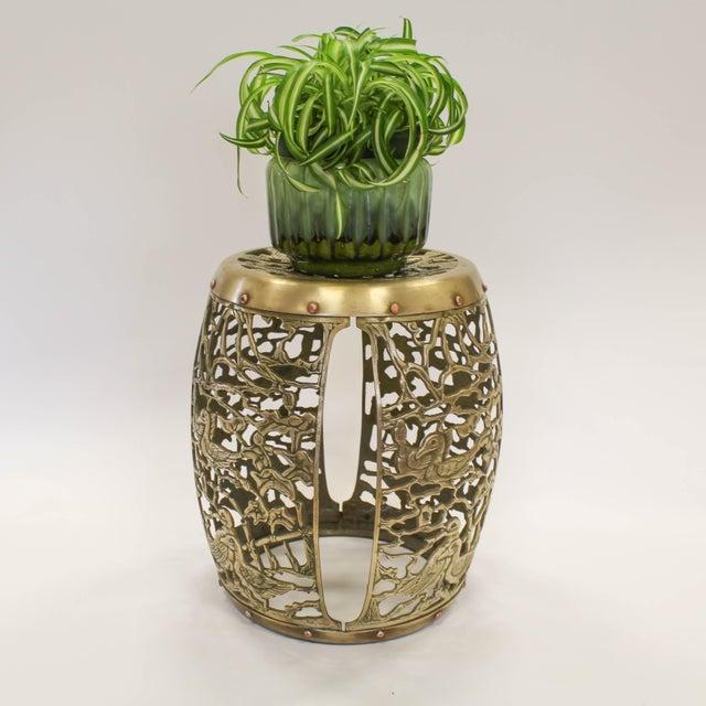 Asian Brass Chinosiere Garden Stool - Image 9 of 9