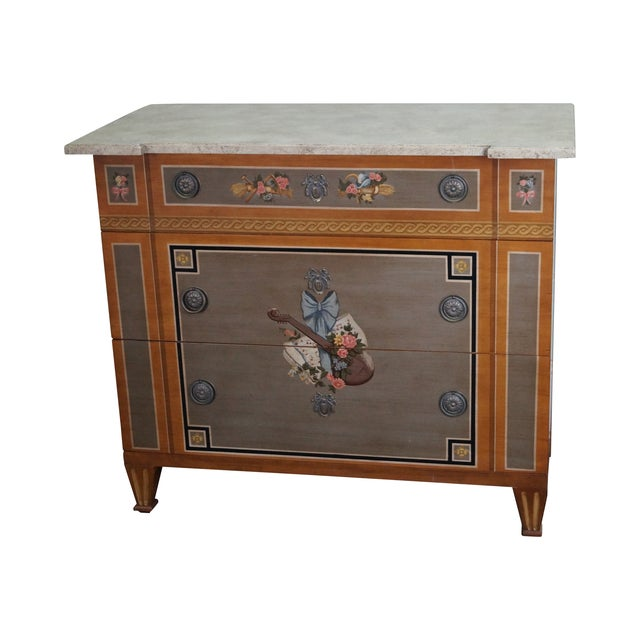 Drexel Heritage Paint Decorated French Style Chest - Image 1 of 10