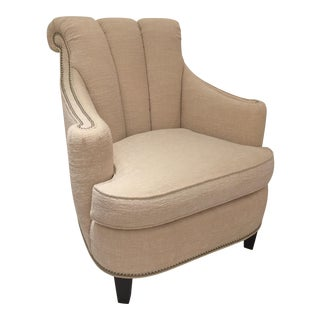 Kindel Channel Back Lounge Chair For Sale