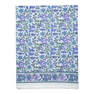 Aria Flat Sheet, Queen - Lavender & Blue For Sale