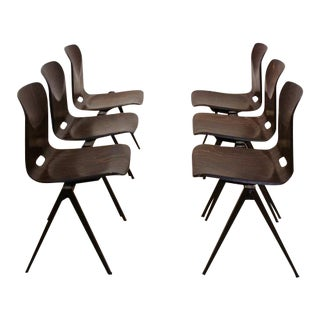 Wenge Stackable Pagholz Galvanitas S22 Industrial Chairs