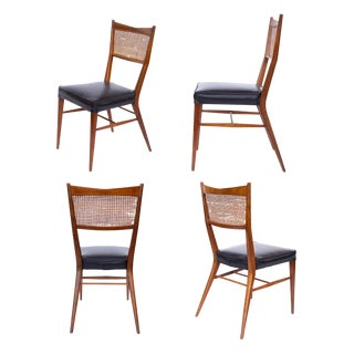 Paul McCobb Walnut Dining Chairs - Set of 4 For Sale