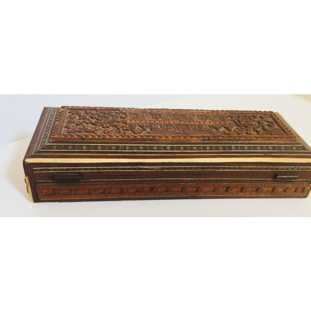 Antique Anglo Indian Mother of Pearl Inlay Box For Sale - Image 9 of 12