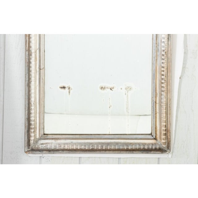 French Country 1850s Louis Phillip Silver Gilt Mirror For Sale - Image 3 of 7