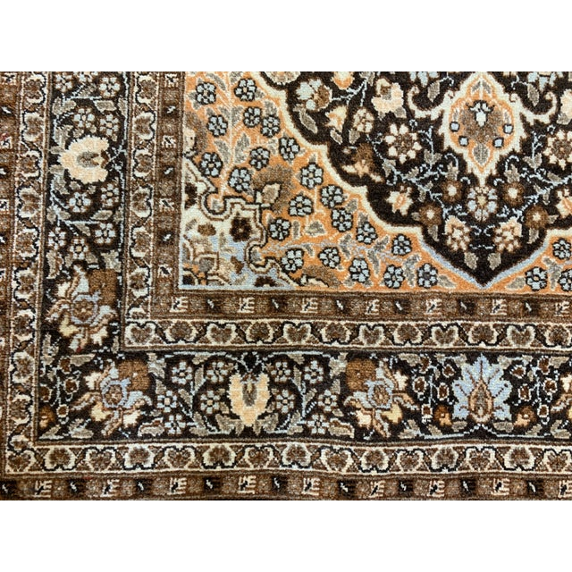 "Textile Antique Persian Tabriz Hajijalili Rug - 4'1""x5'6"" For Sale - Image 7 of 12"
