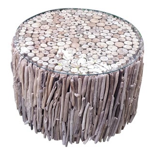 Round Driftwood Coffee Table For Sale