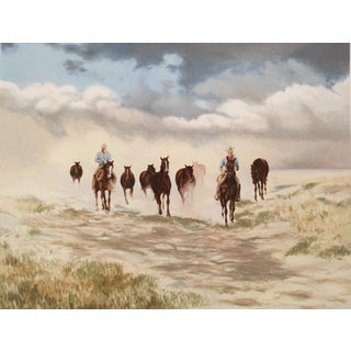 """""""Storm Brewing"""" Lithograph Signed and Numbered by Gwendolyn Branstetter For Sale"""