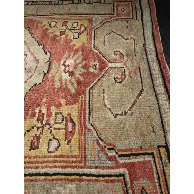 "Bellwether Rug Vintage Turkish Oushak Small Area Rug- 4'2""x5'4"" - Image 8 of 10"