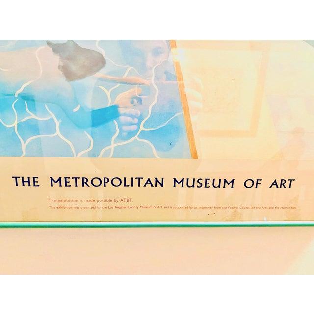 "Original Exhibit Poster ""David Hockney: A Retrospective"" Metropolitan Museum of Art 1988 For Sale - Image 4 of 11"