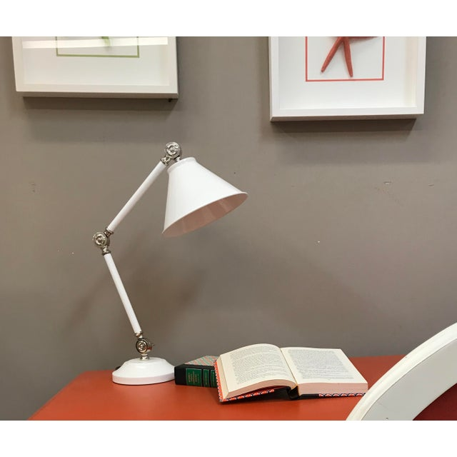 Mid-Century Modern Provence Element White Mini Table Lamp For Sale - Image 3 of 8