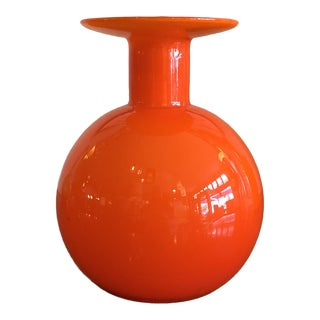 Otto Brauer for Holmegaard Glass Vase For Sale