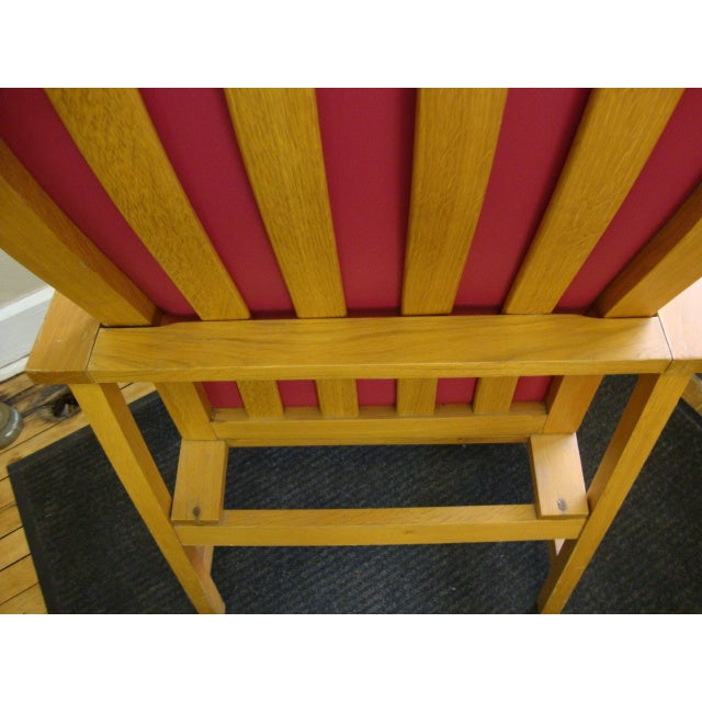 Mid-Century High Back Maple Armchair - Image 4 of 8