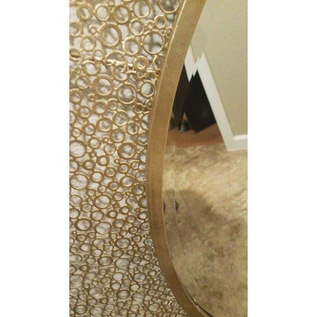 1950s Vintage Brass Wall Mirror For Sale In Phoenix - Image 6 of 7
