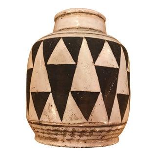 Edouard Cazaux (1889-1974) - Enamelled Terracotta Vase, Circa 1930 For Sale