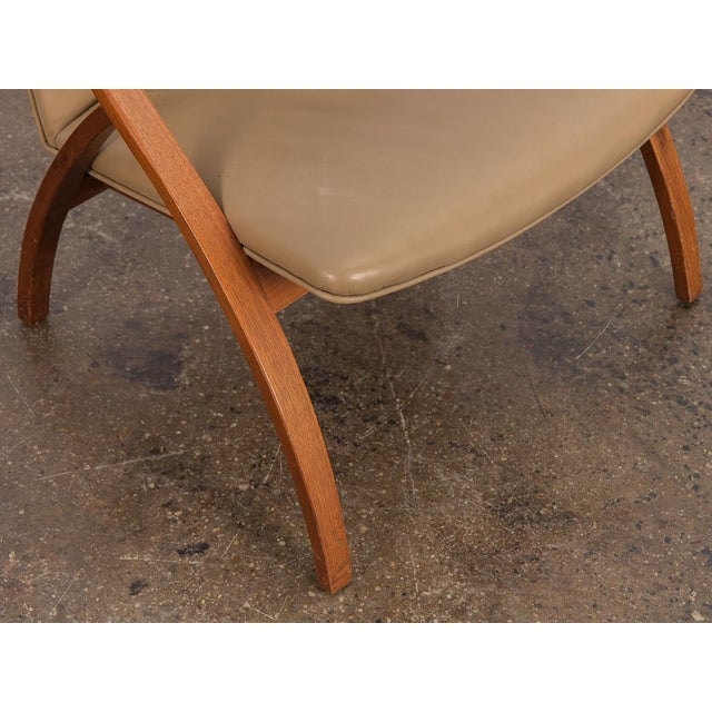 Swedish Armless Sculpted Lounge Chair For Sale - Image 9 of 10