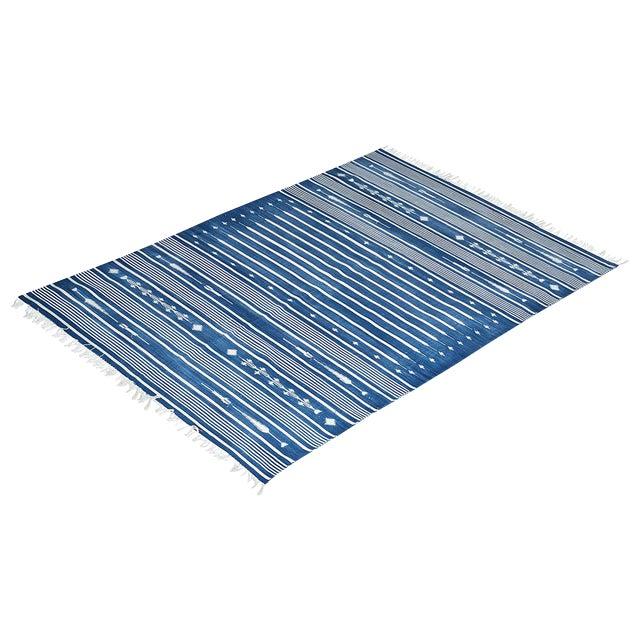 Honeysuckle Rug, 8x10, Blue & White For Sale