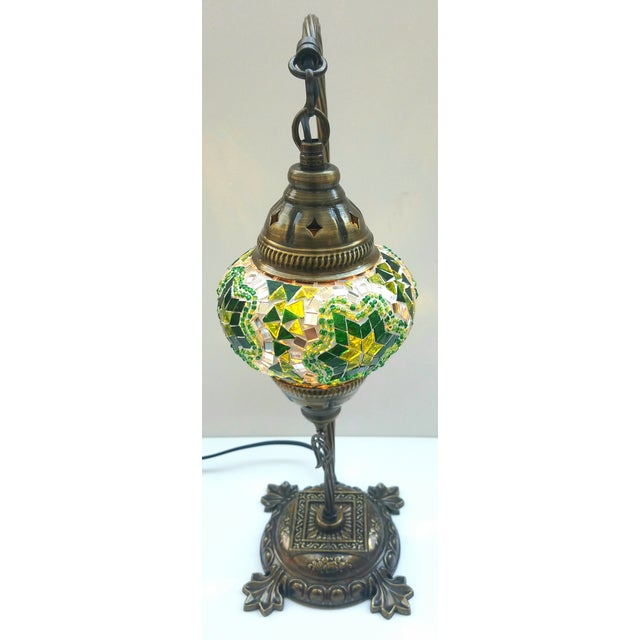 Star of David Mosaic Pendant Table Lamp - Image 5 of 5