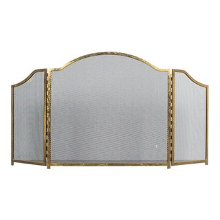 Art Deco Fire Screen Made From Brass, France For Sale
