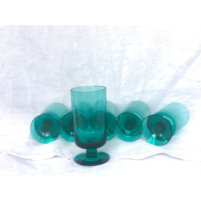 1950s Hand-Blown Swedish Juice Glasses- Set of 6 For Sale - Image 12 of 13