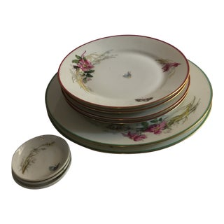 Antique Haviland Limoges Butterfly Plates - Set of 9 For Sale