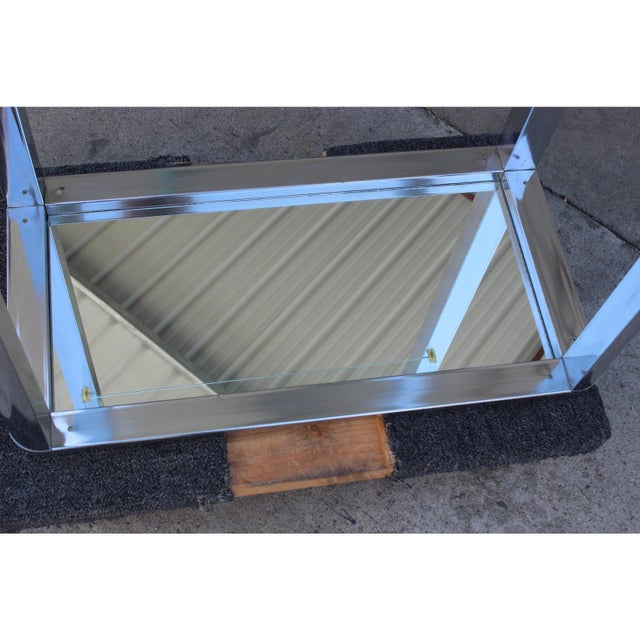 1970s Chrome Mirrored Display Case Stand For Sale - Image 11 of 13