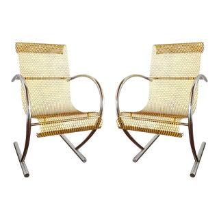 Sing Sing Sing Original Yellow Steel Chairs by Shiro Kuramata, Pastoe, Nthds 1985 - a Pair For Sale