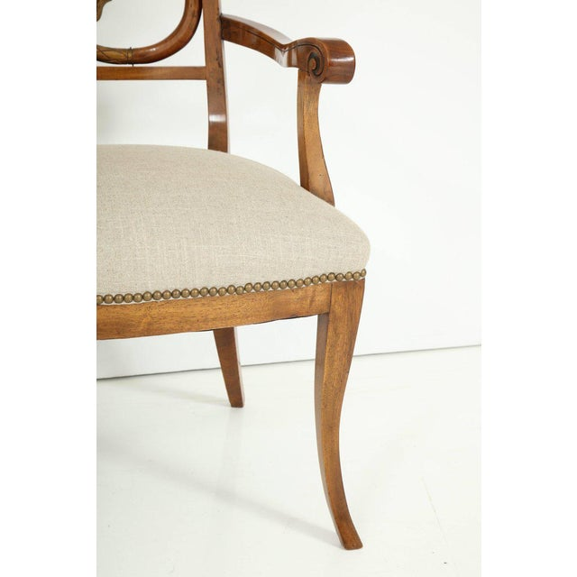 White Pair of Biedermeyer Armchairs For Sale - Image 8 of 10