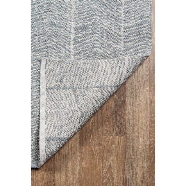 2010s Erin Gates by Momeni Easton Congress Grey Indoor/Outdoor Hand Woven Area Rug - 7′6″ × 9′6″ For Sale - Image 5 of 7
