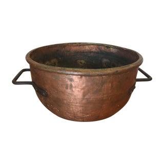 Giant Antique Copper Cauldron