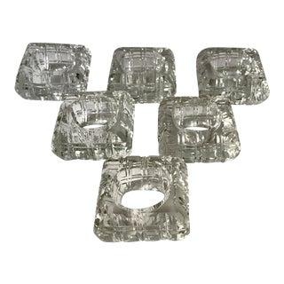 Set of Six Vintage Lead Crystal Individual Salt Cellars For Sale