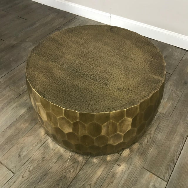Pottery Barn Metal Clad Coffee Table - Image 3 of 10