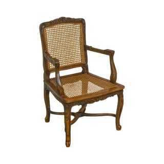 French Louis XV Style Vintage Childs Size Caned Arm Chair