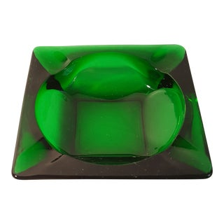 Anchor Hocking Forest Green Ashtray For Sale
