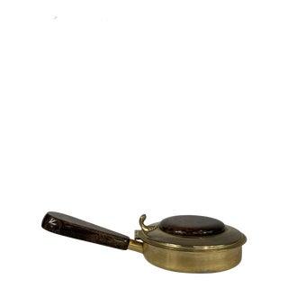 Aldo Tura Brass and Goat Skin Crumb Catcher For Sale
